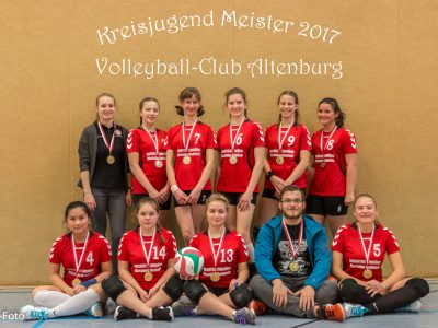 Kein Satzverlust und Kreisjugendsieger beim Heimspiel der weiblichen U16