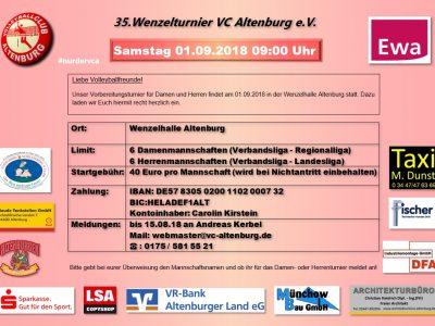 35. Wenzelturnier – Einladung
